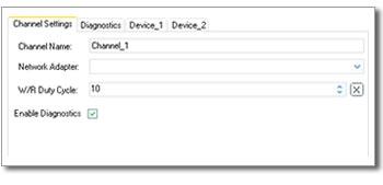 ClientAce Channel Setting Control