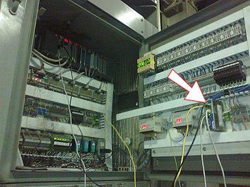 eWON modem připojený do PLC Allen-Bradley